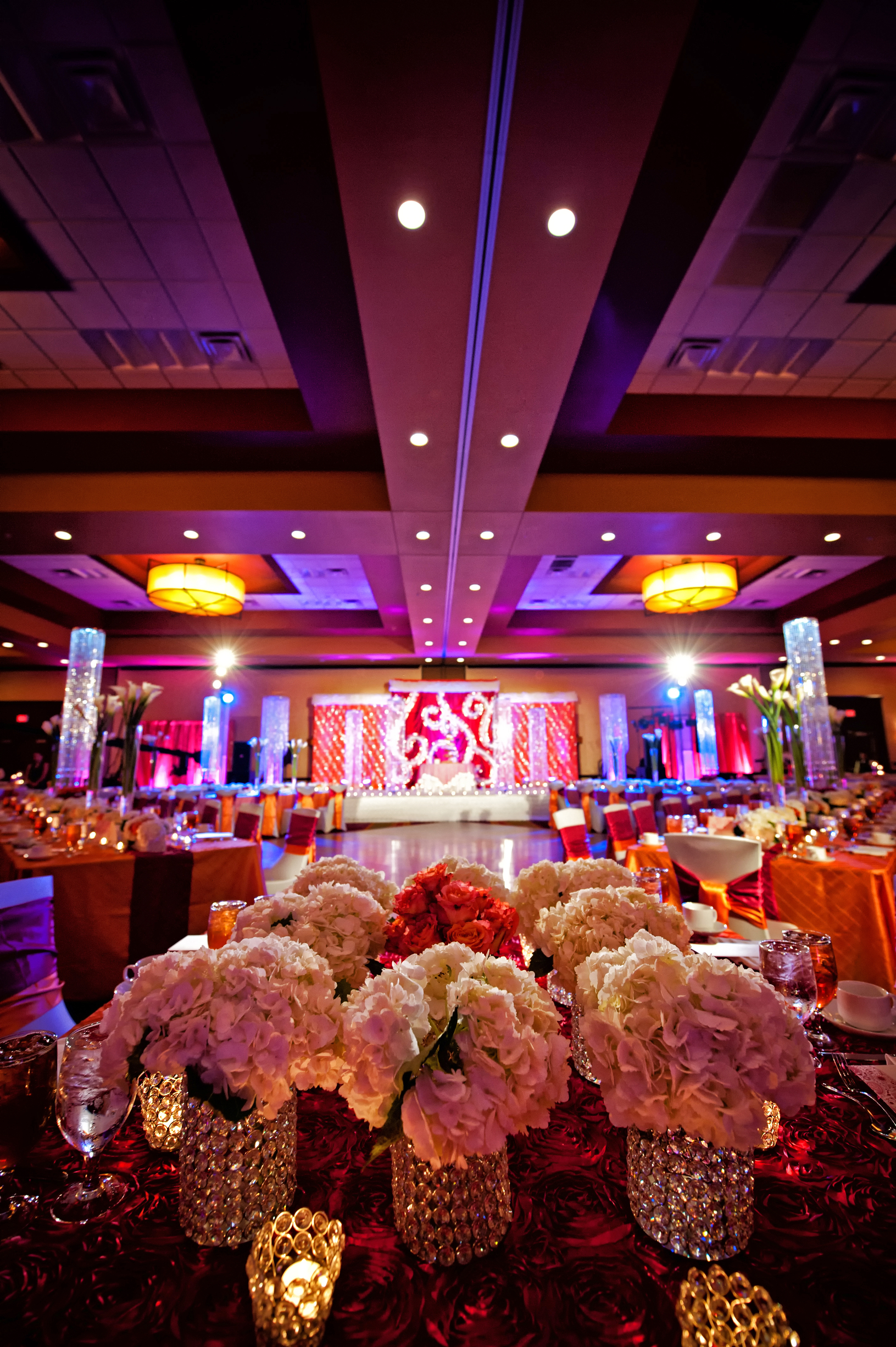 Decorated Ballroom for Indian Wedding