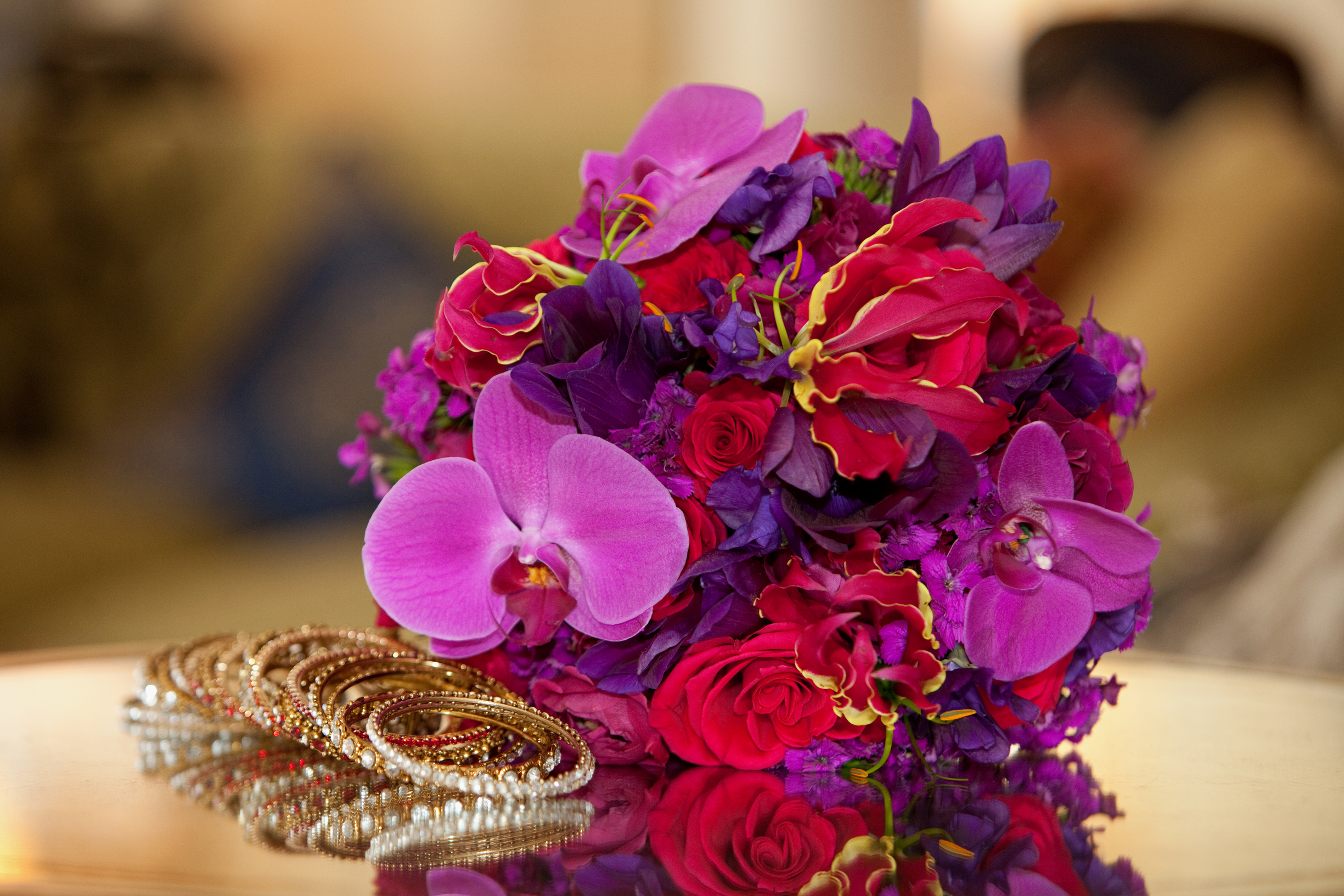 Red, Pink, and Purple Flowers