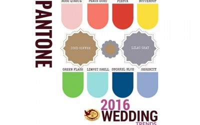Pantone 2016 Wedding Colors- Awesome Pallet Ideas!